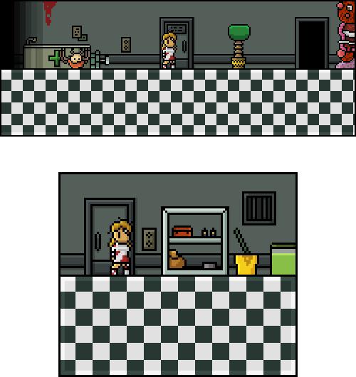 Investigate the middle door